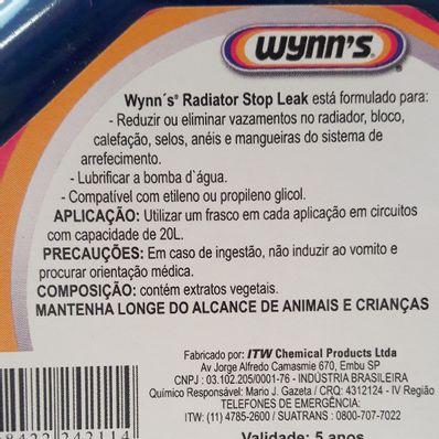 Selante para Sistema de Arrefecimento Wynns Radiator Stop