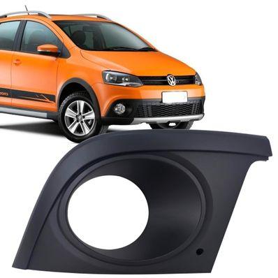 Grade do Farol de Milha Lado Direito com Furo Original Volkswagen CrossFox  2010 até 2014 SpaceCross 2011 até 2014 936fa8fecd